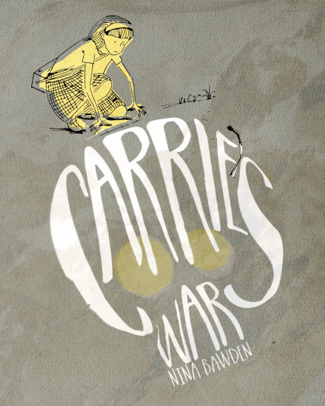 Book cover design for Carrie's War