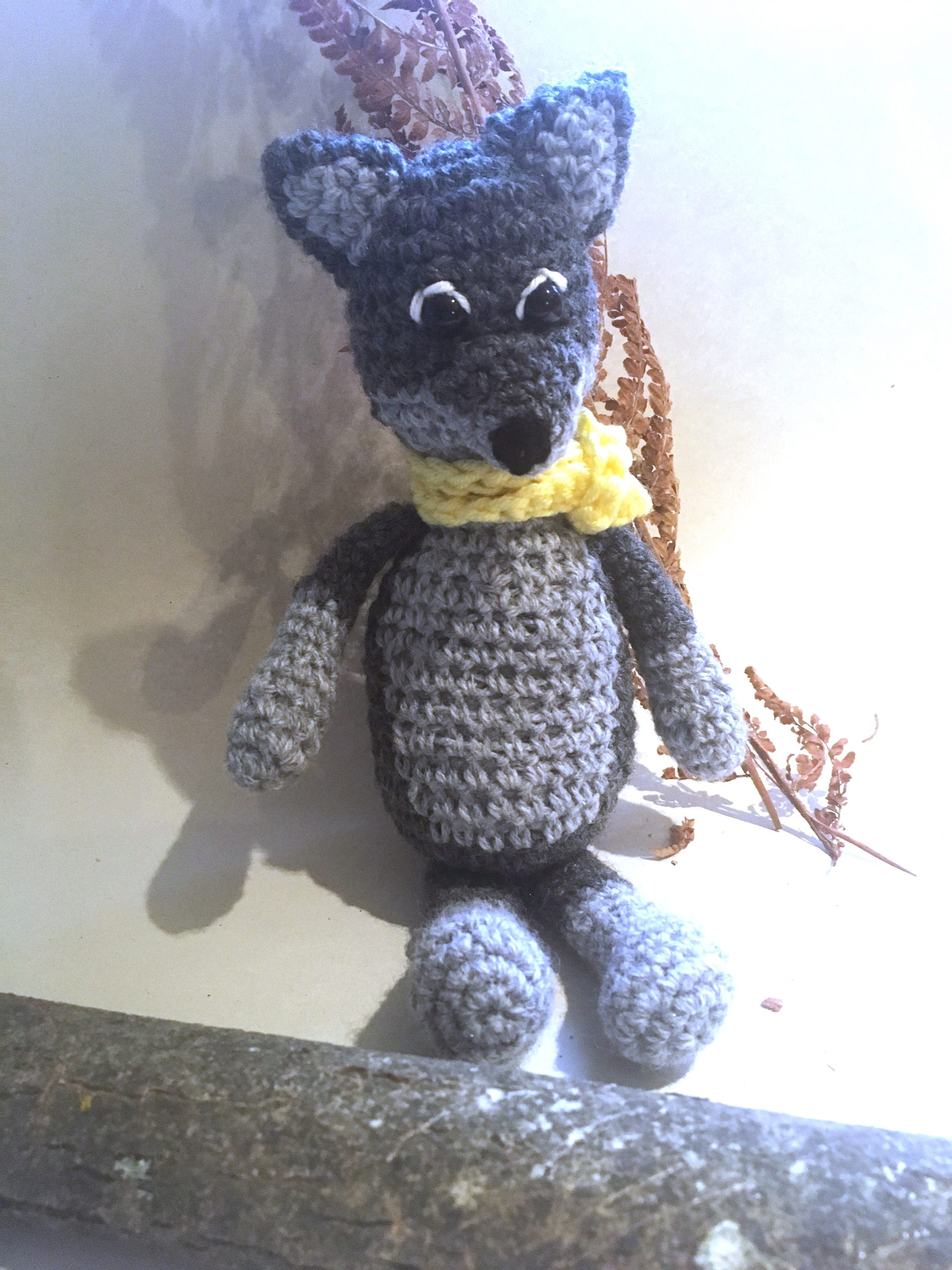 Crochet cute wolf. Does cuteness create empathy with or misunderstanding about real animals?